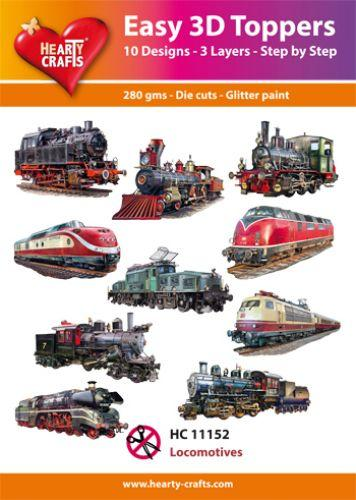 THEARTY CRAFTS EASY 3D TOPPERS LOCOMOTIVES