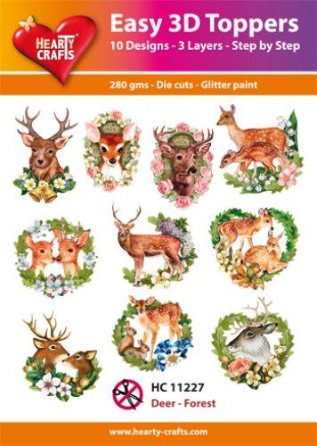 HEARTY CRAFTS EASY 3D TOPPERS  DEER FOREST