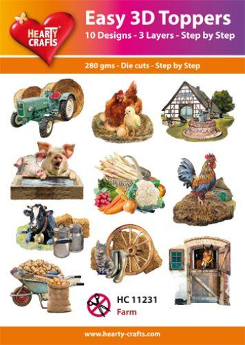 HEARTY CRAFTS EASY 3D TOPPERS FARM