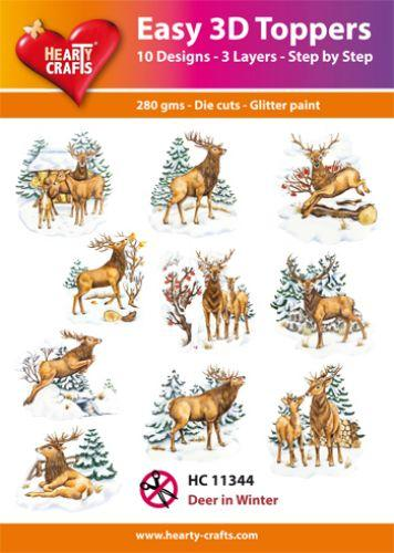 HEARTY CRAFTS EASY 3D TOPPERS DEER IN WINTER