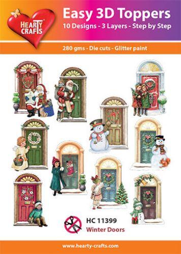 HEARTY CRAFTS EASY 3D TOPPERS WINTER DOORS
