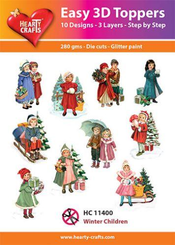 HEARTY CRAFTS EASY 3D TOPPERS WINTER CHILDREN