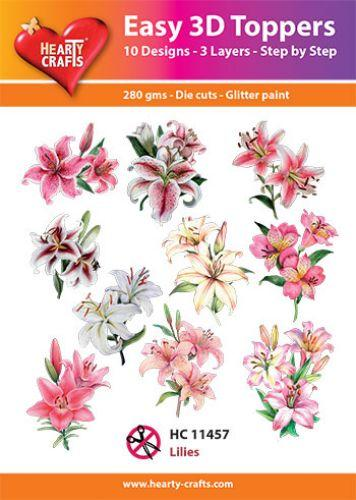 HEARTY CRAFTS EASY 3D TOPPERS LILIES