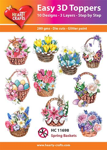 HEARTY CRAFTS EASY 3D TOPPERS SPRING BASKETS