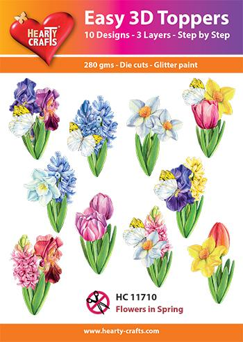 HEARTY CRAFTS EASY 3D TOPPERS FLOWERS IN  SPRING