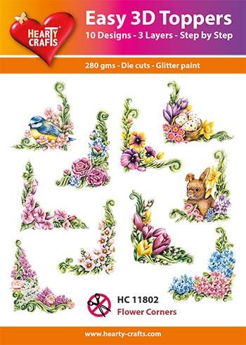 HEARTY CRAFTS EASY 3D TOPPERS  FLOWERS CORNER