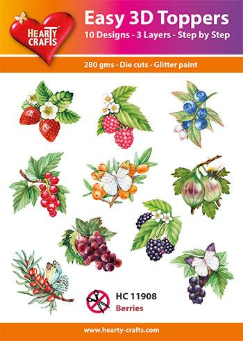 HEARTY CRAFTS EASY 3D TOPPERS BERRIES