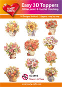 HEARTY CRAFTS EASY 3D TOPPERS FLOWERS IN VASE