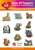 HEARTY CRAFTS EASY 3D TOPPERS ANIMALS