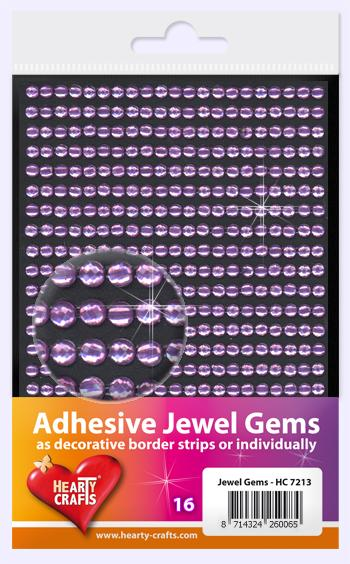 HEARTY CRAFTS ADHESIVE JEWEL GEMS 16
