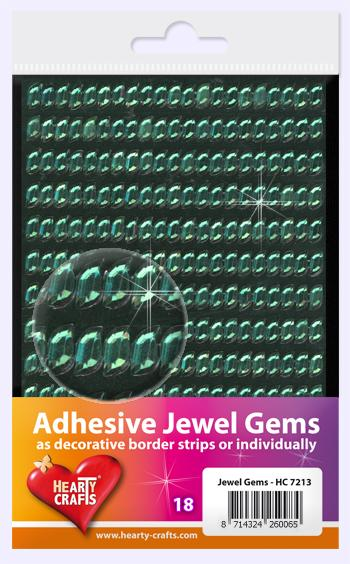 HEARTY CRAFTS ADHESIVE JEWEL GEMS 18