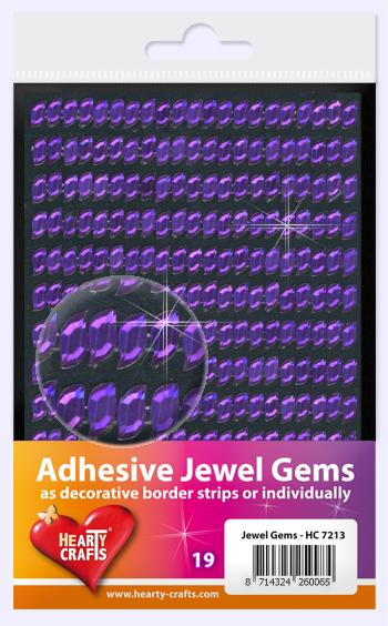 HEARTY CRAFTS ADHESIVE JEWEL GEMS 19