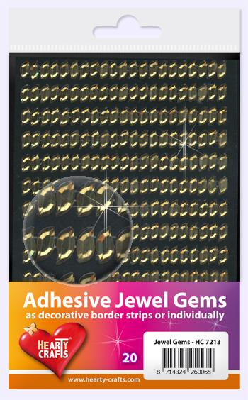 HEARTY CRAFTS ADHESIVE JEWEL GEMS 20
