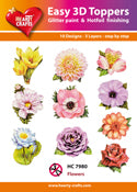 HEARTY CRAFTS EASY 3D TOPPERS FLOWERS