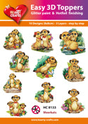 HEARTY CRAFTS EASY 3D TOPPERS  MEERKATS