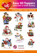 HEARTY CRAFTS EASY 3D TOPPERS  SNOWMAN