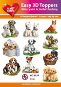 HEARTY CRAFTS EASY 3D TOPPERS DOGS