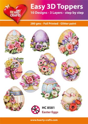HEARTY CRAFTS EASY 3D TOPPERS EASTER EGGS
