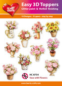 HEARTY CRAFTS EASY 3D TOPPERS VASE AND FLOWERS