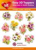 HEARTY CRAFTS EASY 3D TOPPERS GARDEN FLOWERS