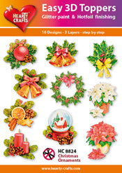 HEARTY CRAFTS EASY 3D TOPPERS XMAS ORNAMENTS