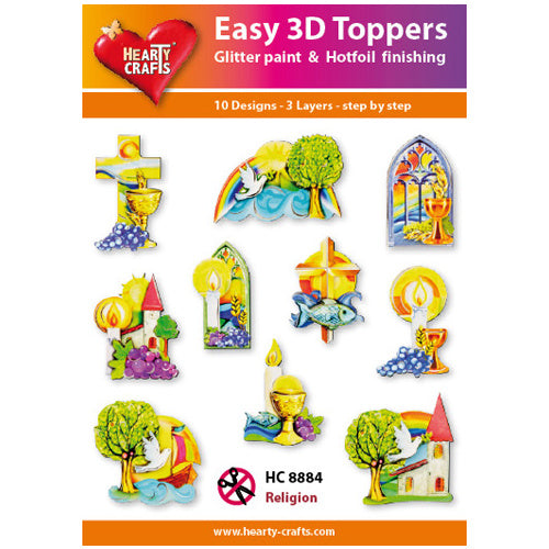 HEARTY CRAFTS EASY 3D TOPPERS  REGLIGION