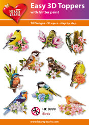 HEARTY CRAFTS EASY 3D TOPPERS BIRDS