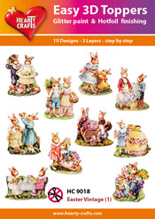 HEARTY CRAFTS EASY 3D TOPPERS EASTER VINTAGE 1