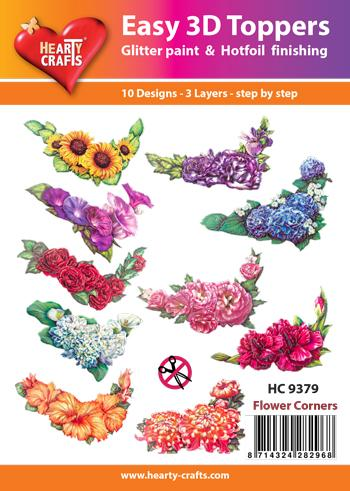 HEARTY CRAFTS EASY 3D TOPPERS FLOWER CORNERS