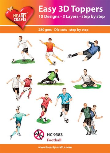 HEARTY CRAFTS EASY 3D TOPPERS FOOTBALL