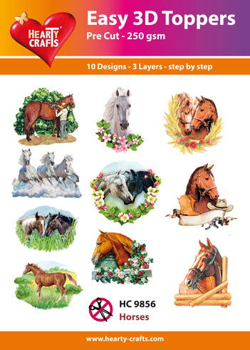 HEARTY CRAFTS EASY 3D TOPPERS  HORSES