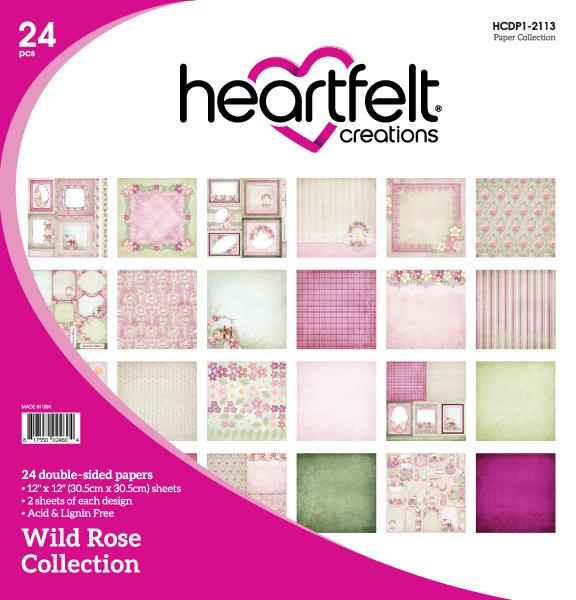 HEARTFELT  WILD ROSE PAPER COLLECTION