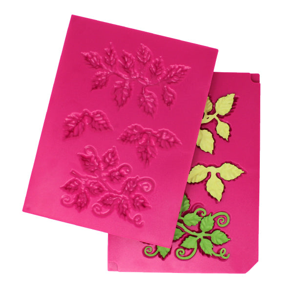 HEARTFELT  3D LEAFY ACCENTS  SHAPING MOLD