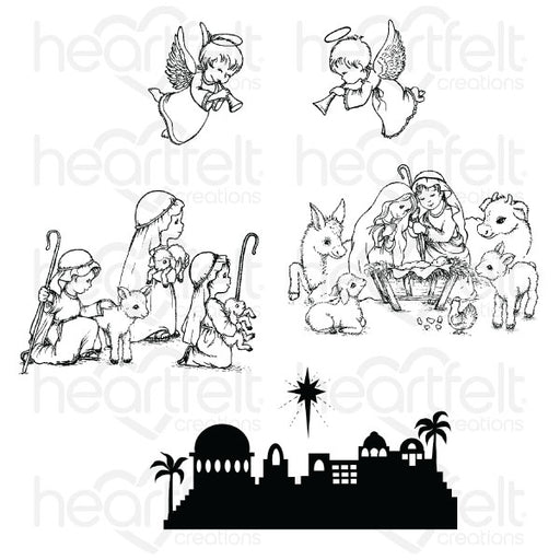 HC CLING STAMP  O HOLY NIGHT