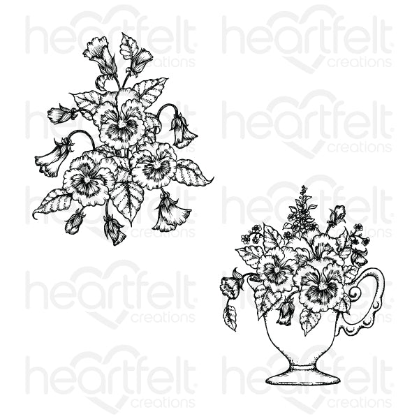 HC CLING STAMP  BURST OF SPRING