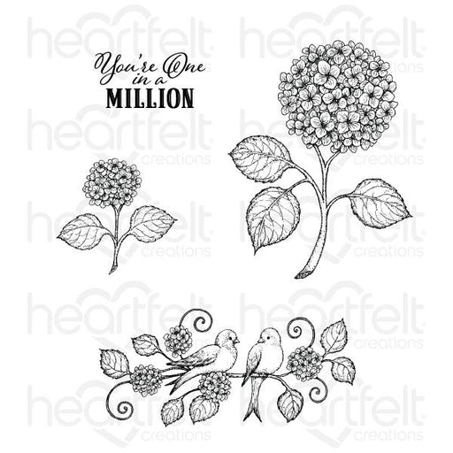 HEARTFELT CREATIONS  FRESH CUT HYDRANGEA CLING STAMP SET