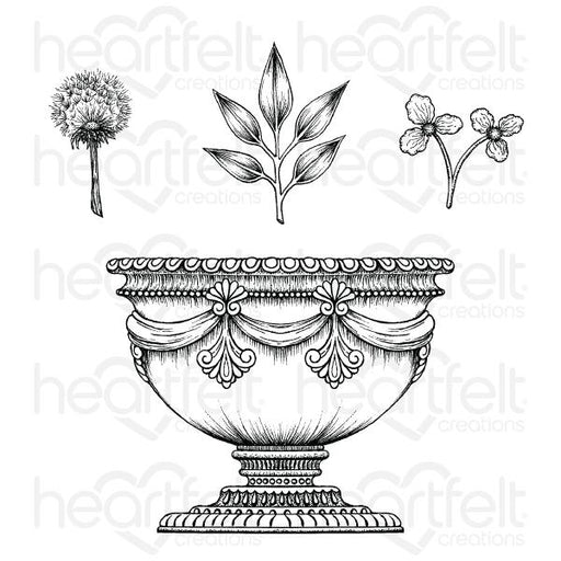 HEARTFELT CREATIONS  LARGE FLORAL URN CLING STAMP SET (Pre Order Now shipping in Mid December 2020)