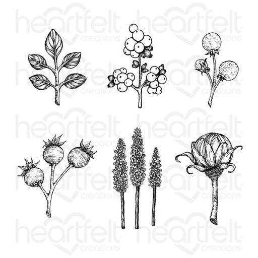 HEARTFELT CREATIONS  FLORAL SHOPPE ACCENTS CLING STAMP SET (Pre Order Now shipping in Mid December 2020)
