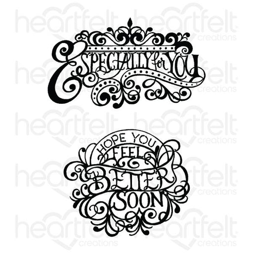HEARTFELT CREATIONS ELEGANT ESPECIALLY FOR YOU CLING STAMP .