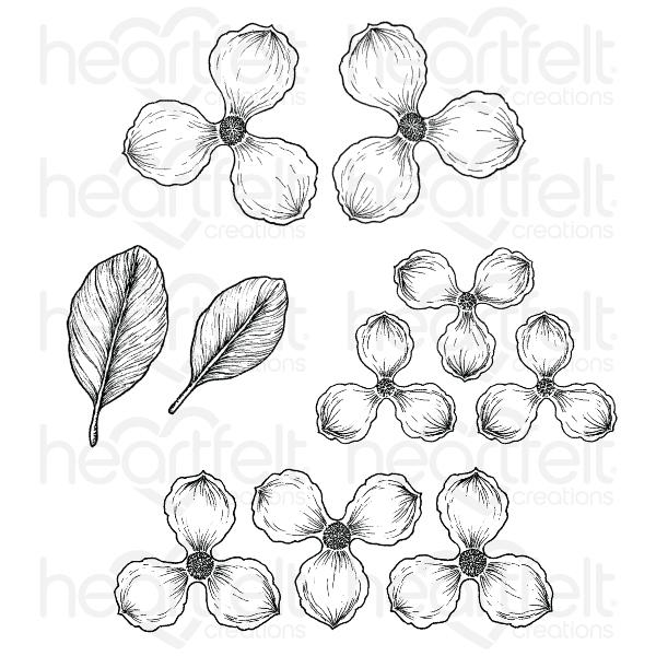 HEARTFELT CREATIONS SWEET MAGNOLIA BLOOMS CLING STAMP SET