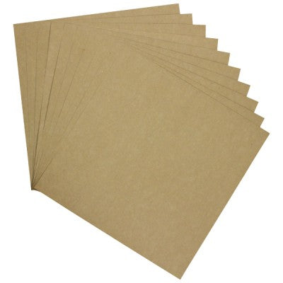 HEARTFELT  PAPER PACK of 10 KRAFT