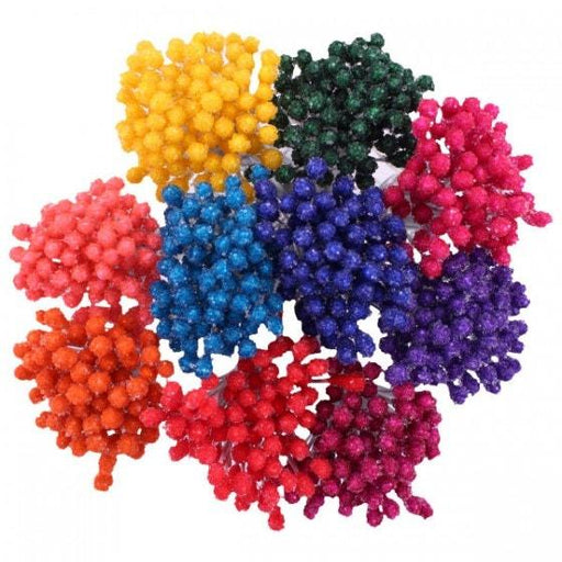 STAMENS ASSORTED BRIGHT   BEAD STAMENS MEDIUM