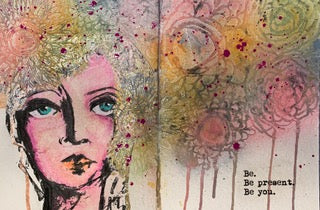 Faces in your Art Journal – How to use large focal images effectively