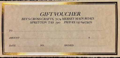 Bev's Cross Crafts Gift Voucher