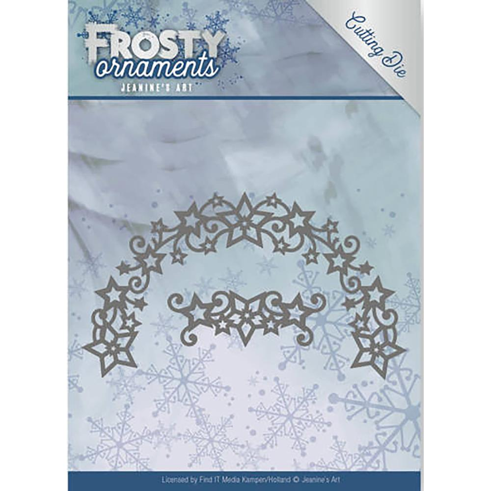 JEANINES ART  DIES  FROSTY ORNAMENTS  FROSTY WREATH