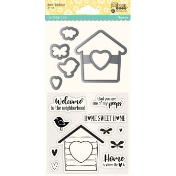 JILLIBEAN SOUP  STAMP AND DIE  HEART BIRDHOUSE