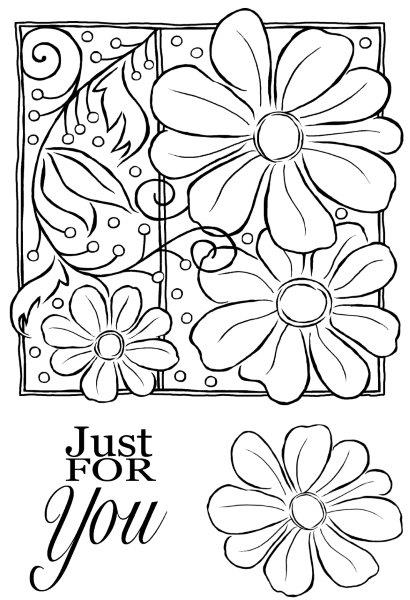 WOODWARE  CLEAR STAMPS   PETALS AND TWIRLS