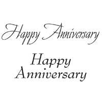 WOODWARE  CLEAR STAMPS  HAPPY ANNIVERSARY