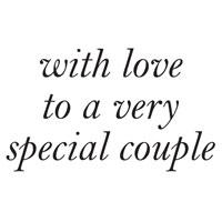 WOODWARE  CLEAR STAMPS  WITH LOVE TO A SPECIAL COUPLE