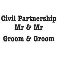 WOODWARE  CLEAR STAMPS CIVIL PARTNERSHIP MR AND MR